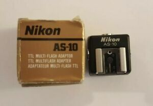 Nikon AS-10 Sync Terminal Adapter Hot Shoe to PC adaptor AS 10