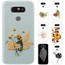 Dessana Flowers Pressed TPU Silicone Protective Cover Phone Case Cover For LG