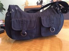 Woman's Purse Hand Bag Medium Black  Fabric