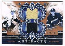2010-11 ARTIFACTS TUNDRA TANDEMS BRONZE JERSEY SIDNEY CROSBY BOBBY RYAN 048/125