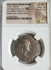 Macedon Under Rome Shield Coin NGC CH VF 4/4 Ancient Silver Coin
