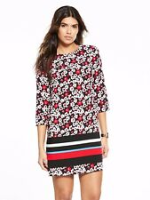V by Very Printed 3/4 Sleeve Tunic Black Size UK 18 rrp £32 DH079 RR 07