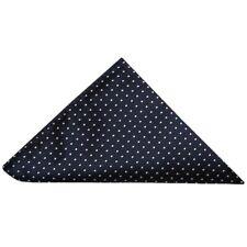 TIES R US Navy and White polka dot Pocket Square Wedding Handkerchief