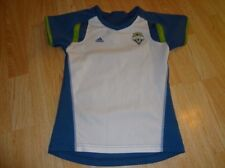 Youth Girls Seattle Sounders M (10/12) Adidas Soccer Futbol Jersey