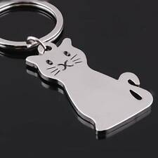 Fashion Cat Shaped Metal Key Chain Keychain Key Ring Keyring Hot Gift charm