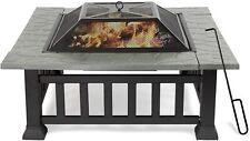 Koreyosh Fire Pits Outdoor Wood Burning Round ,Portable Patio Stove w