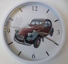 CITROEN 2 CV CHARLESTON pendule murale horloge 20cms ( KDO DKO 2cv deuche