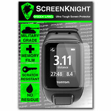 ScreenKnight TomTom Spark FRONT SCREEN PROTECTOR invisible Military shield