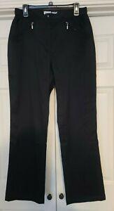 Jamie Sadock Stretch Pants Long Golf Womens Lg Pockets NWOT Black