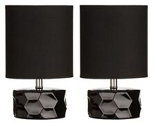 Premier Housewares Honeycomb Ceramic Table Lamp With Fabric Shade E14 40 W a