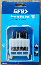 GFB Industrial 10 Piece Impact Power Screw Driver Set in Box