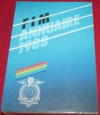 F I M ANNUAIRE - FEDERATION INTERNATIONALE MOTORCYCLISTE - 1988 - PB