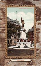 MONTREAL CANADA MAISONNEUVE MONUMENT GILT FRAMED POSTCARD 1910