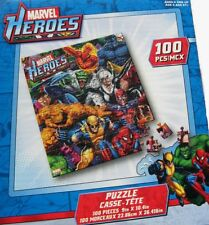 Marvel Heroes Puzzle Factory Sealed 100 Pieces New 2010 Spiderman storm beast