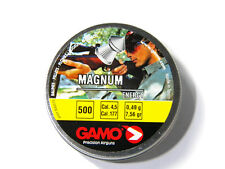 GAMO MAGNUM 500pcs Heavy Pointed Pellets .177 Cal.4.5 mm DOUBLE RING 7,56 grain