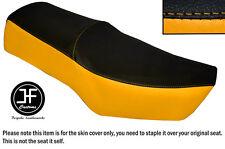 Amarillo y Negro de vinilo personalizado para SUZUKI GN 250 1987-1996 Doble Cubierta de asiento solamente