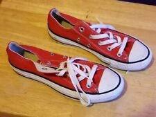 Red Low Top All Stars Unisex Converse Sneakers Mens sz 4 Womens sz 6 With Box