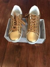 New Wanted Shoes, Gold Lace Up, Women Size 6.5,