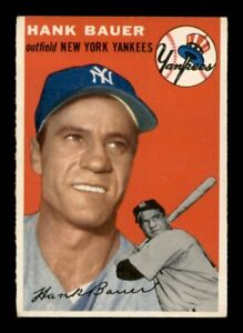 1954 Topps Set Break # 130 Hank Bauer EX-MINT *OBGcards*