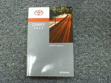 2012 Toyota Camry Sedan Owner Owner's Manual L LE SE Limited Edition XLE V6
