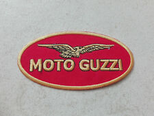 Aufnäher Patch Moto Guzzi Racing Motorsport MC Tuning Autocross Biker Bügelbild