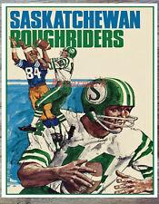 Vintage CFL Saskatchewan Roughriders Color Poster Print 8 X 10 Photo Picture