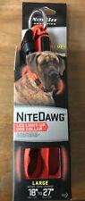 Nite Ize Nite Dawg Large Safety LED Light Up Flash Glow Dog Collar Orange *NEW*