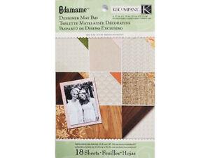 K&Company Edamame Designer Map Pad Cardstock, 18 Sheets #30-619456