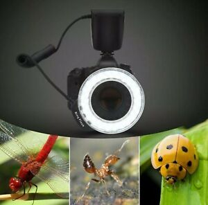 Macro 48 LED Ring Flash Light Filters for Nikon Canon Pentax Olympus DSLR Camera