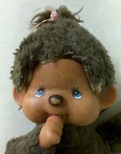 """Vintage Monchhichi 1974 Sekiguchi Brown Mattel 7"""" Stuffed Pacifier Hong Kong"""