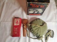 Vintage BOY SCOUT lot vitt l kit 3 in 1 utensils Cook Kit 5 pc BSA camping hunt