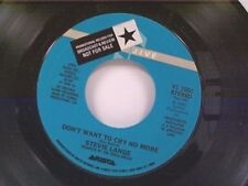 "STEVIE LANGE ""DON'T WANT TO CRY NO MORE / DON'T AIT TOO LONG"" 45 MINT PROMO"