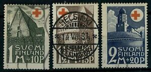 Finland 1931 SG#282-284 Red Cross Fund Used Set Cat £60 #E78922