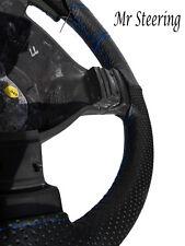 Per AUDI A3 1996-2003 NUOVO perforata in pelle Volante Copertura Cuciture Blu