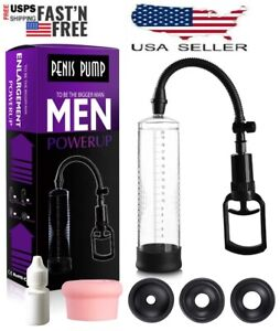 Vacuum Penis Pump for Male ED Enhancement Erectile Enlargement Penis Enlarger