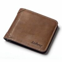 Top Vintage Men Leather Brand Luxury Wallet Short Slim Male Purses Money
