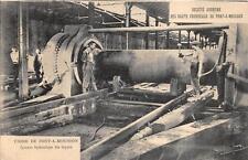 FRANCE SCOTT #243 STAMP BLAST FURNACE HYDRAULIC PIPES MACHINERY POSTCARD 1927