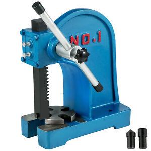 Arbor Press 1 Ton Lever Bench Mountable Bearings Cast Iron Manual Desktop