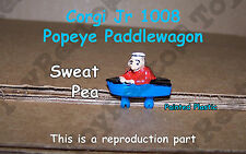 Corgi Jr 1008 Popeye Paddlewagon - Sweet Pea - Painted Plastic Figure Resto Part