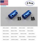 2 pcs Aluminum Blue Shaft Coupling Rigid Coupler Motor Connector CNC DIY