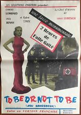 Affiche JEUX DANGEREUX To be or not to be ERNST LUBITSCH Carole Lombard 40x60cm*