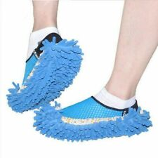 1pair Chenille Lazy Slippers Washable House Cleaner Lazy Floor Dusting Cleaning