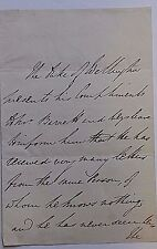 DUKE OF WELLINGTON DEFEATED NAPOLEON BONAPARTE AT WATERLOO HANDWRITTEN & SIGNED