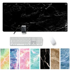 Large Marble Grain Mouse Pad Office Computer Desk Keyboard Mat Laptop Cushion