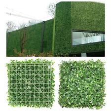 12/24 Pcs Artificial Plant Boxwood Mat Fence Hedge Wall Fake Grass Panel Decor