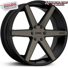 "KMC KM704 District Truck Matte Black 22""x9 Custom Wheel Rim (One Wheel) New"
