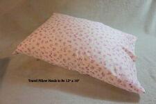 "Pink-Lavender Floral Fine English Cotton Pillowcase/Sleepover Bag+Ribbon 14""x20"""