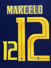 2018 Russia World Cup Brazil #12 Marcelo Away Name Set