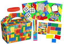 Pre Filled Brick Block Party Box - Parties Gift Activity Bags - Lego Inspired