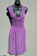 Flawless Adorable Max Studio Purple Faux Wrap Empire Dress, S./ M.